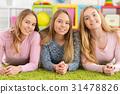 portrait of three teenage girls 31478826