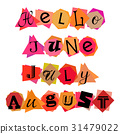 Welcoming card with lettering for summer months 31479022