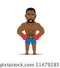 boxer fighter character 31479285