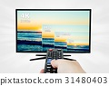 4K television display with comparison resolutions 31480403