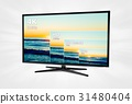 4K television display with comparison resolutions 31480404