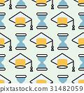 Graduation cap seamless pattern student success 31482059