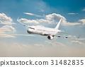 Passenger Aircraft Mid-air 31482835