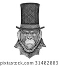Gorilla, monkey, ape Frightful animal wearing 31482883