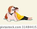 狗 狗狗 女孩 31484415