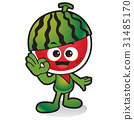 과일, 애니메이션, 수박 31485170