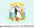 illustration bride building 31485208