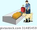 动物 行李 狗 31485459