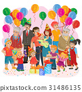 Vector big happy family together celebrate a 31486135