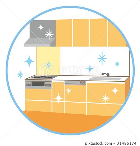 厨房 干净 通风设备 31486174