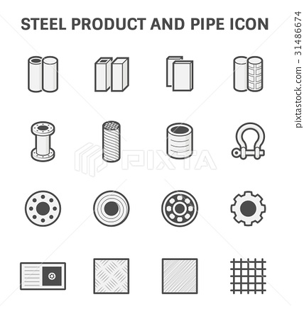 Steel Pipe Icon 31486674