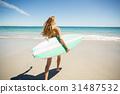女人 女性 海滩 31487532
