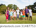Kids posing together during a sunny day 31487753