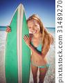 女人 女性 海滩 31489270