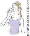 一個女人喝水 31489504