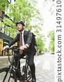 미들 사업가 자전거 31497610