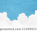 Summer sky cloud cover (texture of Japanese paper) 31499933