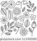 flower flowers leaves 31500080