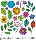 flowers leaves drawings 31500081