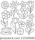 flower drawing drawings 31500089