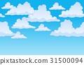 Horizontally seamless sky with clouds 1 31500094