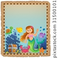 Parchment with mermaid topic 4 31500101