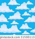 Stylized clouds seamless background 2 31500113