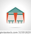 Tent cafe flat color vector icon 31501820