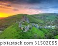 castle, ruins, corfe 31502095