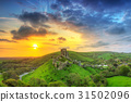 castle, ruins, corfe 31502096