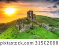castle, ruins, corfe 31502098