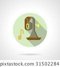 Brass music flat round vector icon 31502284