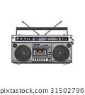 Retro style audio tape recorder, ghetto boom box 31502796