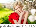 girl beautiful garden 31503377