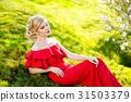 girl beautiful garden 31503379