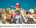 Happy family on summer vacation 31503522