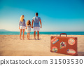 Happy family having fun on summer vacation 31503530