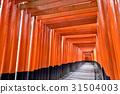 京都伏见稻荷大社的Senbon牌坊 31504003