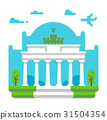 Flat design Brandenburg gate 31504354