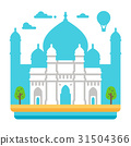 Flat design Gateway of India 31504366