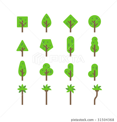 Flat design tree set 31504368