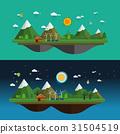 Modern flat design vector landscape 31504519