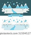 mountains, vector, flat 31504527
