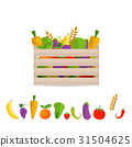 Fresh Fruits and vegetables in a box 31504625