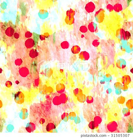 鮮豔細緻的抽象彩色墨點特寫紋理背景(無縫接圖,高解析度 2D CG 渲染∕著色插圖) 31505307
