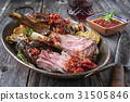 Barbecue Lamb Knuckles with Vegetable  31505846