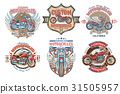 Set vector color vintage badges, emblems with a 31505957