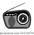 radio old retro vintage icon stock vector  31510274