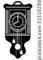 clock old retro vintage icon stock vector 31510280