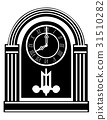 clock old retro vintage icon stock vector 31510282